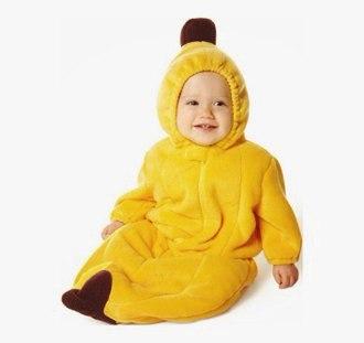 Ребенок в костюме банана